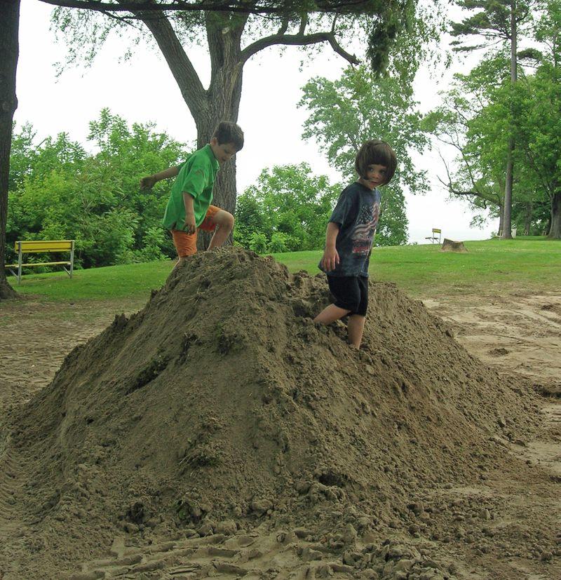Big pile of sand