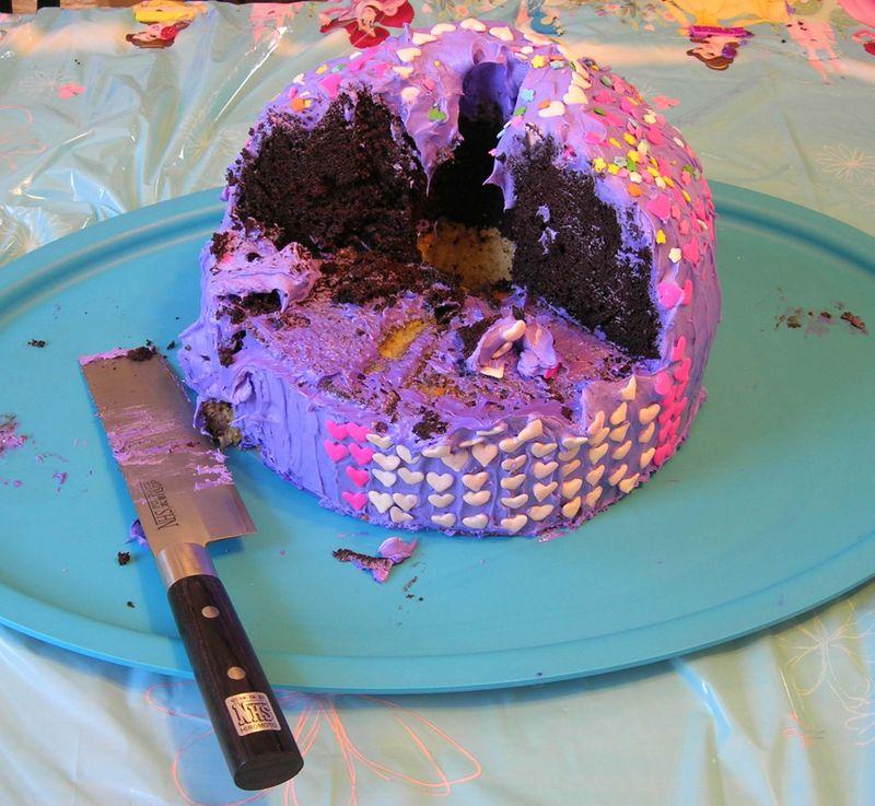 Partially eaten cake