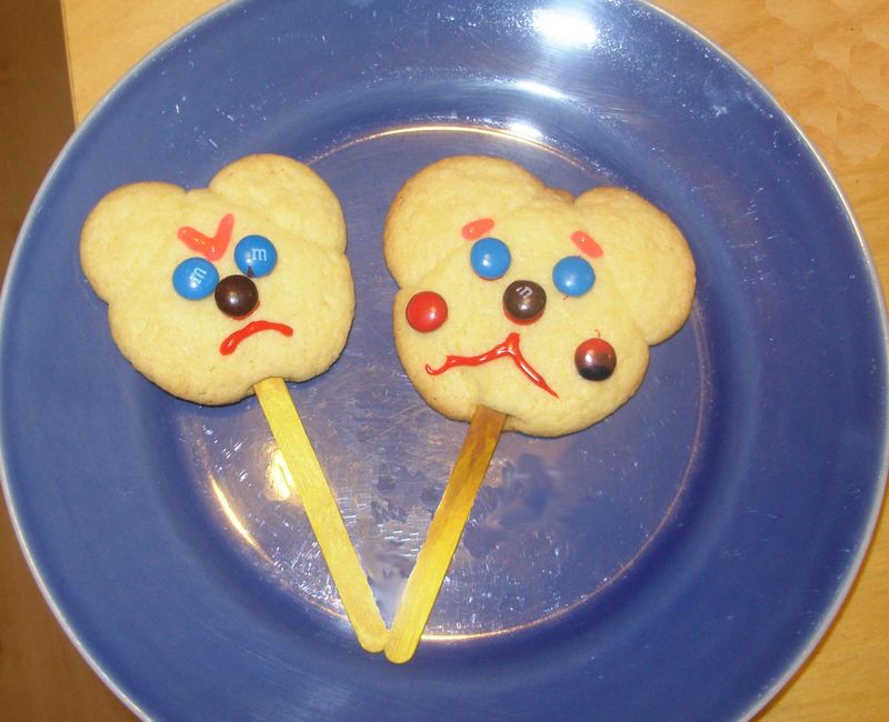 Angry scared cookies