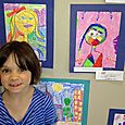 Kitty's picture in district art show (pink one)