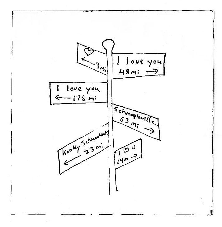 Love signpost