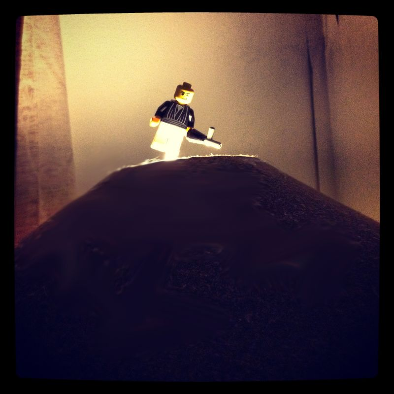 Lego on lamp