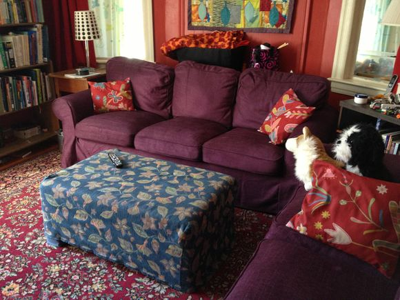 Hello Purple Sofas!